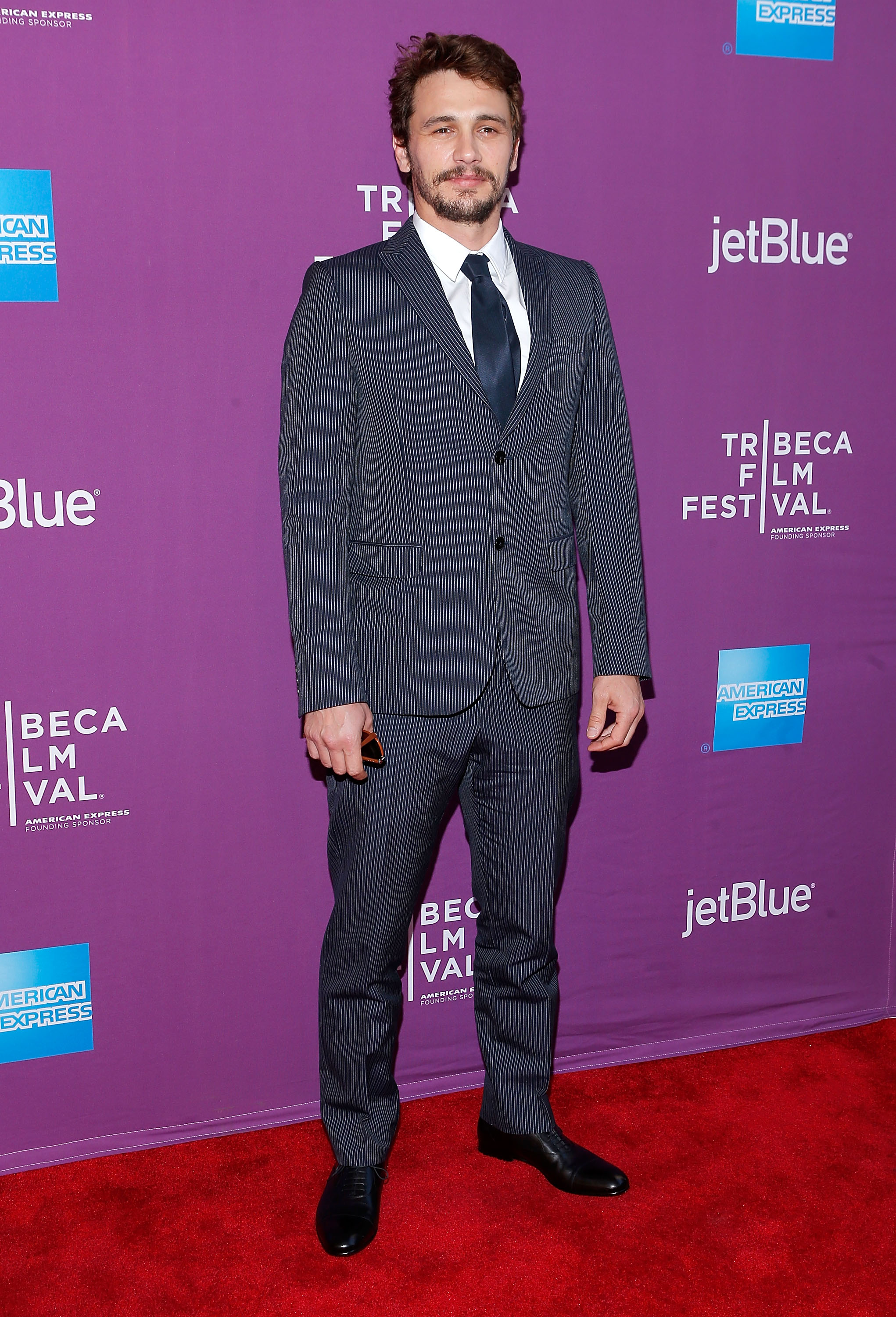 James Franco got dressed up in a su