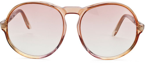Vintage Comex Round Rose-Tinted Sunglasses