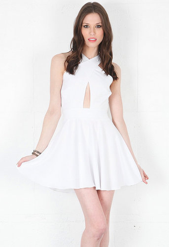 Criss Cross Vixen Dress in White - by Naven