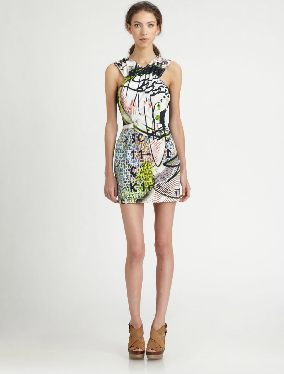 This vibrant Mary Katrantzou for Current/Elliott Fortune Teller Dress ($396, originally $528) will surely make you the center of every Summer party.