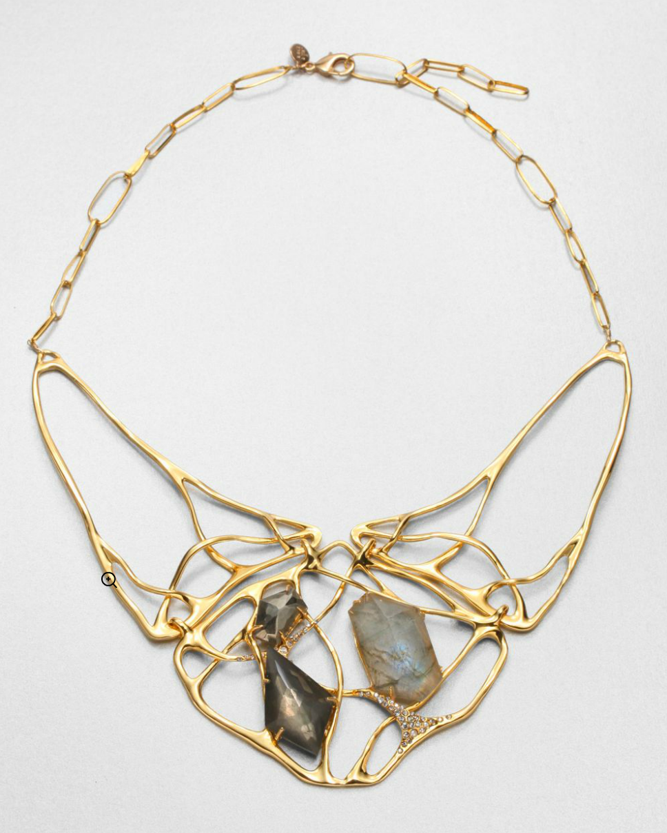 For those fancier evenings, pair this Alexis Bittar Liquid Necklace ($334, originally $445) with a little black dress and nude heels an easy chic look.
