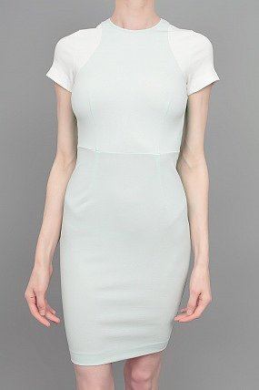 Stella McCartney Short Sleeved Color Block Dress
