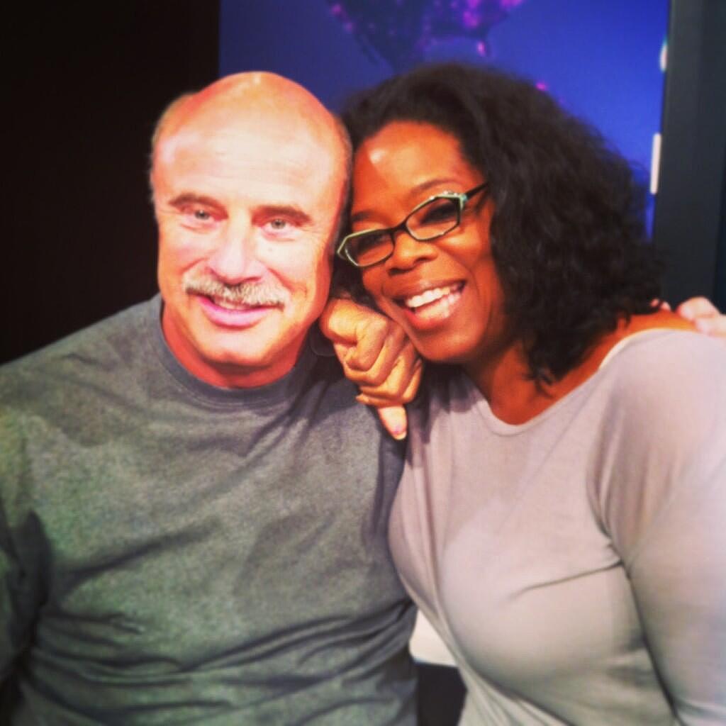 Dr. Phil and Oprah bonded. Source: Twitter user Oprah