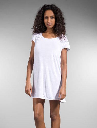 Plain white T' Dress