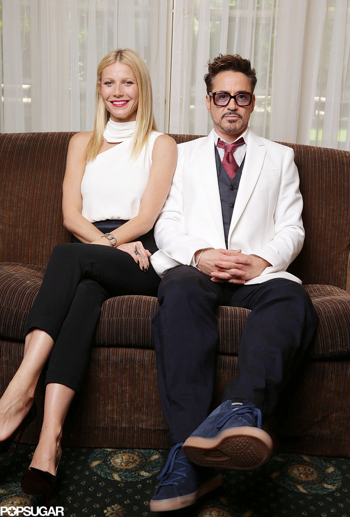 Robert Downey Jr. and Gwyneth Paltrow posed for portraits for Iron Man 3.