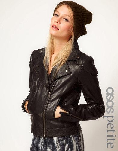 ASOS PETITE Leather Biker Jacket