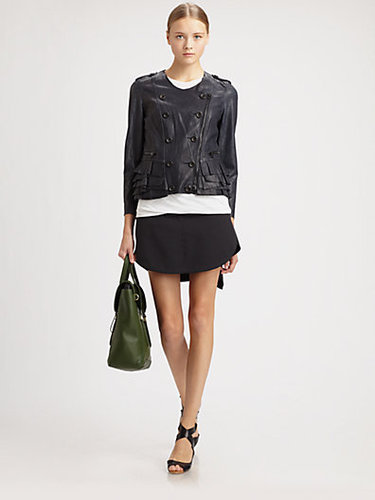 3.1 Phillip Lim Leather Ruffle Jacket