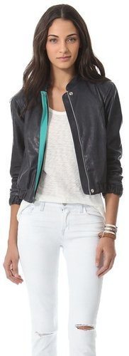 Charlotte ronson Varsity Leather Jacket