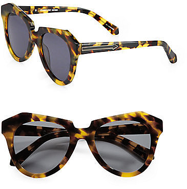 Karen Walker Number One Tortoise Acetate Sunglasses
