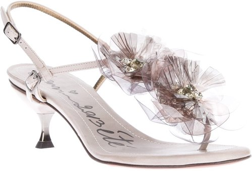 Lanvin floral sandal