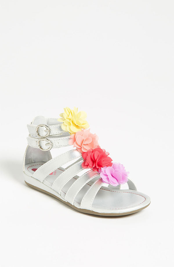 Stride Rite's feminine and flirty Sloane sandals ($40) feature a neutral silver base with the prettiest petal details.