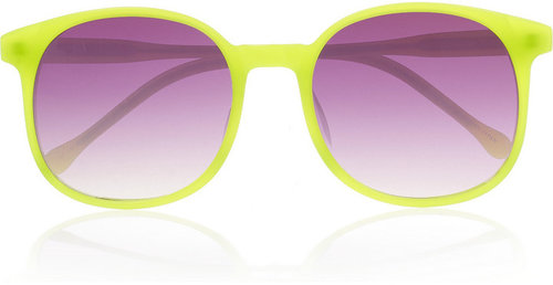 Linda Farrow for Matthew Williamson Square-frame acetate sunglasses