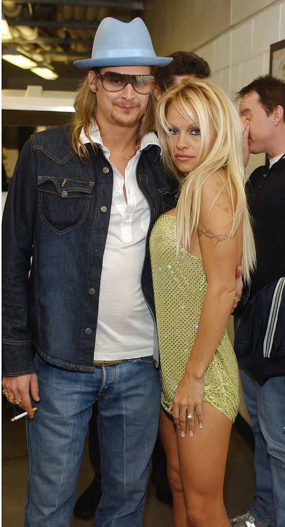 Kid Rock and Pamela Anderson married in July 2006 on a party yacht in St.-Tropez but divorced that November.<br /><br />