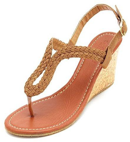 Braided Slingback Wedge Sandal