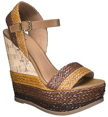 Women's Mossimo® Pemella Demi Wedge with Patterned Bottom - Cognac