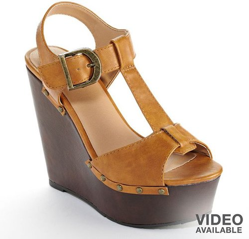 Candie's platform wedge sandals - women