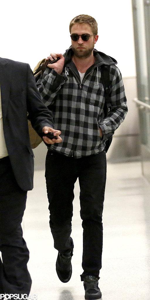 Robert Pattinson walked through LAX.