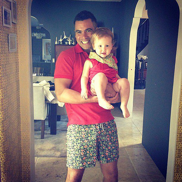 Cash Warren and daughter Haven sported adorable matching outfits. Source: Instagram user cashwarren