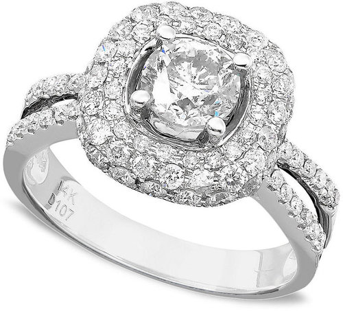 Engagement Ring, Diamond (2 ct. tw.) and 14k White Gold
