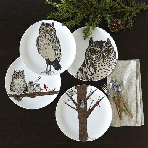 Owl Dessert Plates