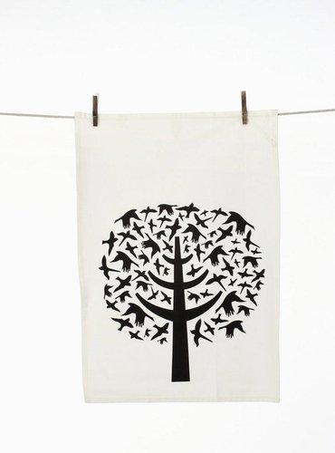 Ferm Living - Bird Leaves Tea Towel