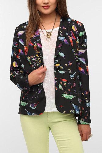 Lucca Couture Silky Bird Blazer