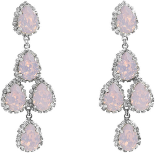Erickson Beamon Pink Opal Duchess of Fabulous Chandelier Earrings