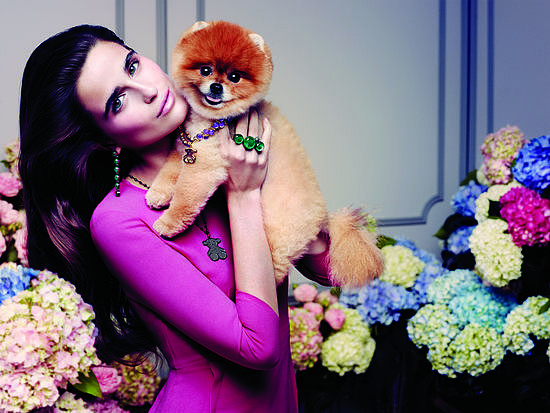 That necklace really brings out the fiery tone of Tito the Pom's fur. So fierce.  Photo courtesy of Tous