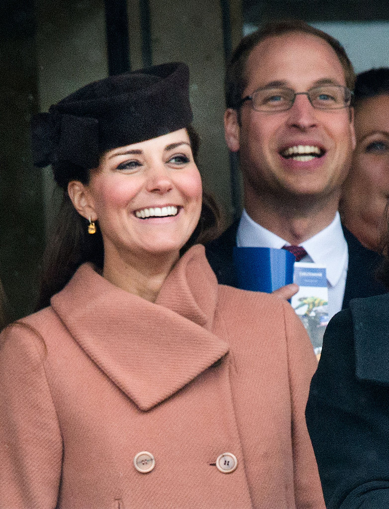 Kate Middleton and Prince William smiled at the Cheltenham Festival in England in March.