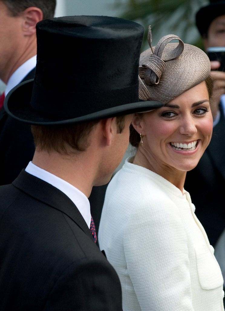 Kate gave Prince William a loving look during the Epsom Derby in June 2011.