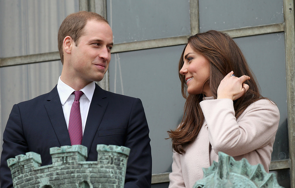 Kate Middleton and Prince William glanced lovingly at each other during an official visit to Cambridge, England, in November 2012.