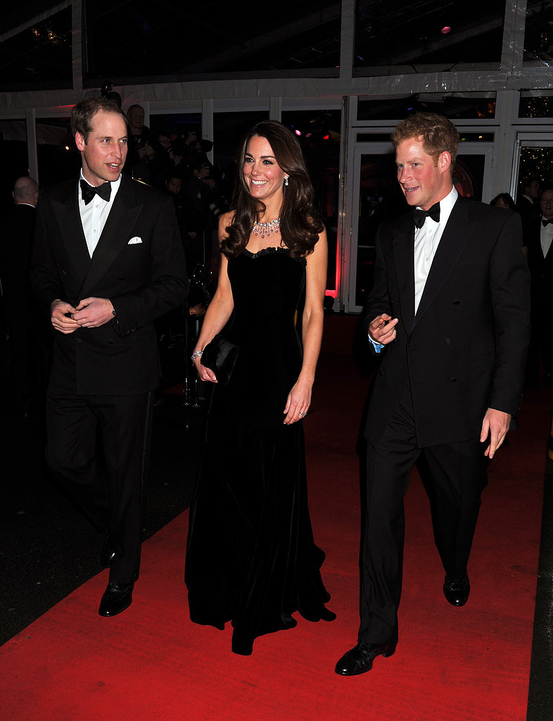Kate Middleton was the center of attention with Princes William and Harry by her side at London's Sun Military Awards in December 2011.