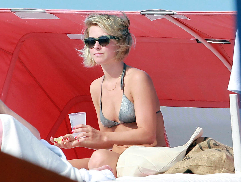 Julianne Hough and Nina Dobrev Break Out Their Bikinis For a Miami Girls' Getaway