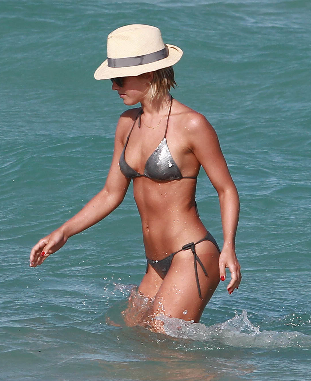 Julianne Hough wore a sequined string bikini in Miami.