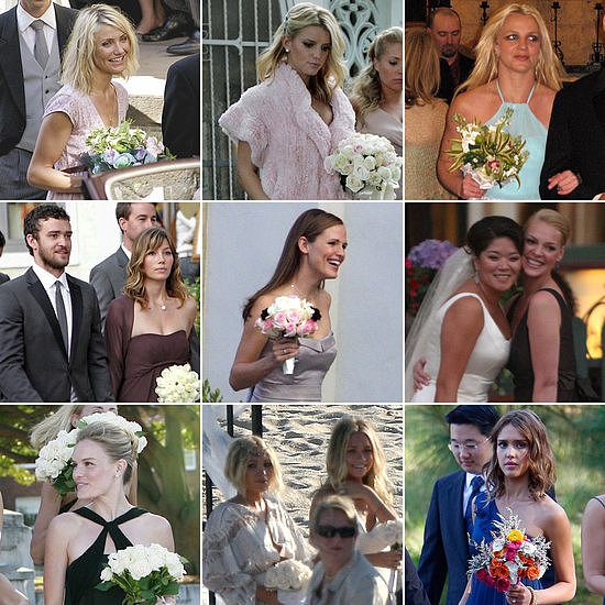 "Many celebrities have walked down the aisle without saying ""I do,"" and POPSUGAR Celebrity is taking a look at all of the stars to slip on a bridesmaid dress over the years."