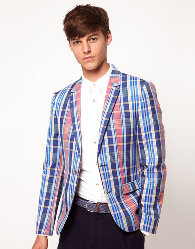 ASOS Slim Fit Blazer In Check