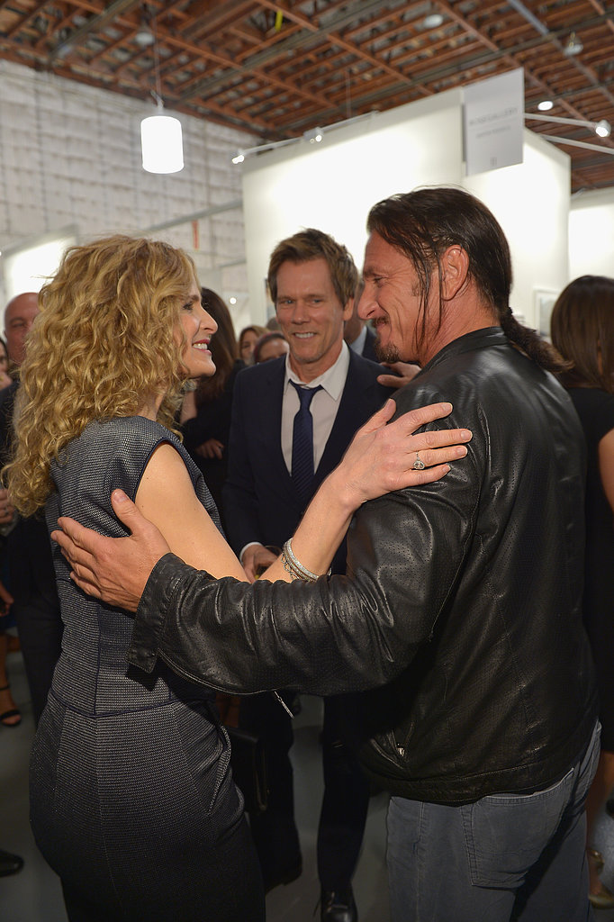 Sean Penn chatted with Kyra Sedgwick and Kevin Bacon.