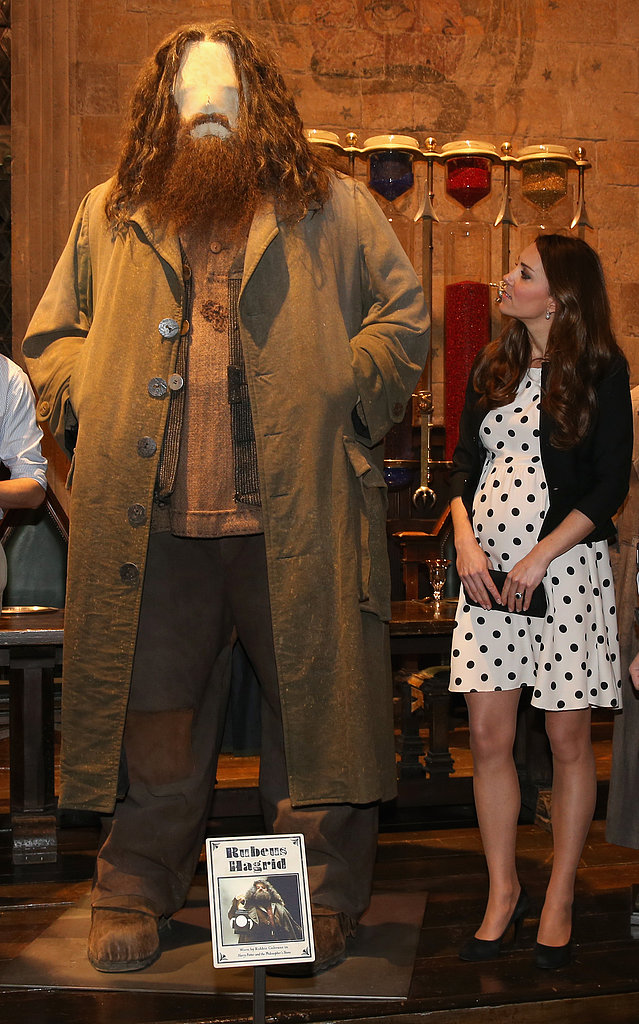 Kate Middleton inspected a Harry Potter costume.