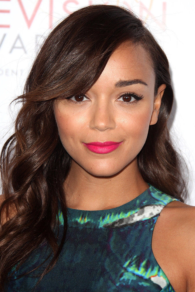 Ashley Madekwe's neon pink lips