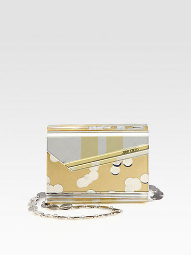 Jimmy Choo Metallic Acrylic Clutch