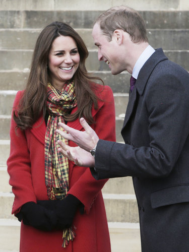 Will and Kate shared a laugh during a two-day tour of Scotland in 2013.