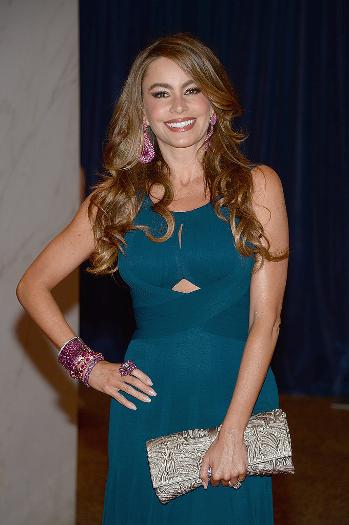 Sofia Vergara wore a teal gown.