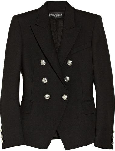 Balmain Double-breasted wool-blend blazer