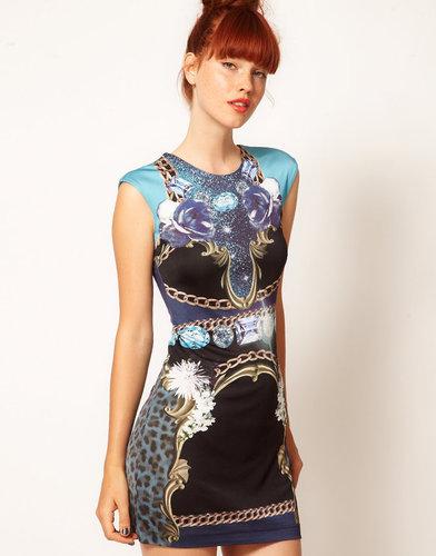 Emma Cook Jade Dress in Blue Jewels Print