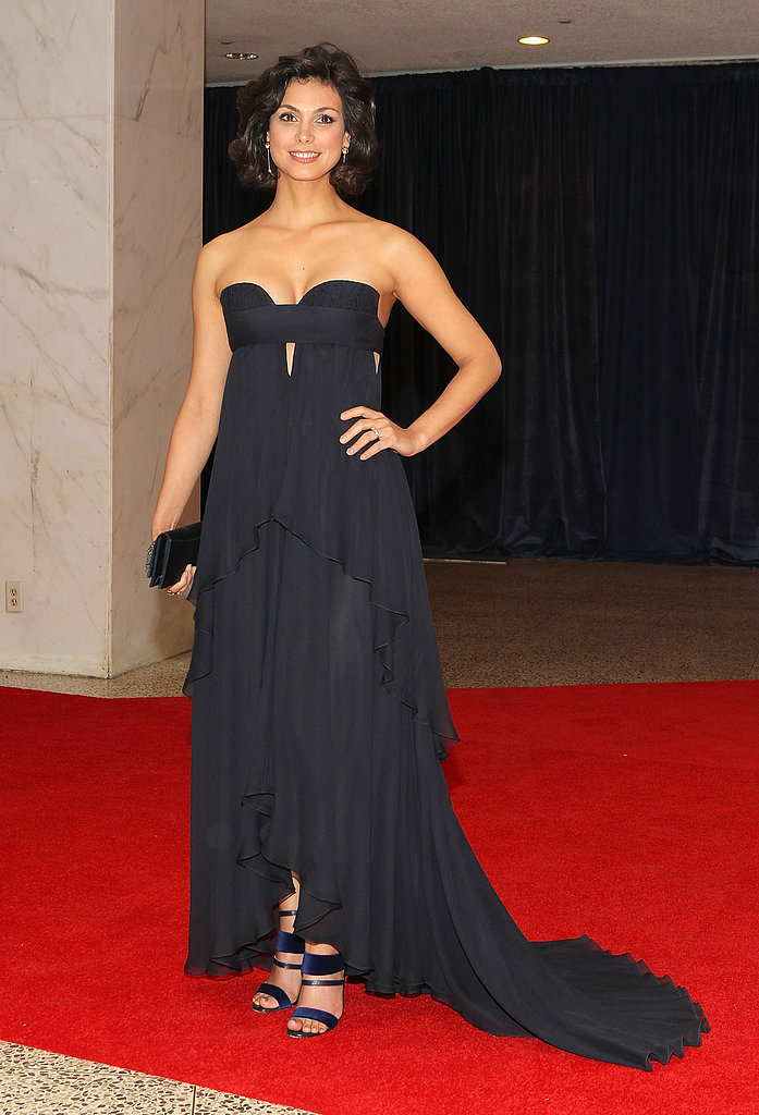 Morena Baccarin was a standout in a strapless, cutout J. Mendel confection and strappy heels.