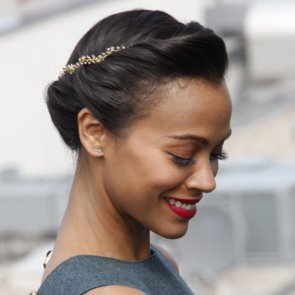Zoe Saldana Hair | Star Trek Into Darkness