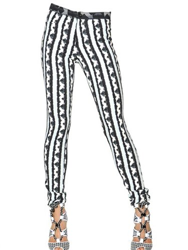 Printed Viscose Crepe Trousers