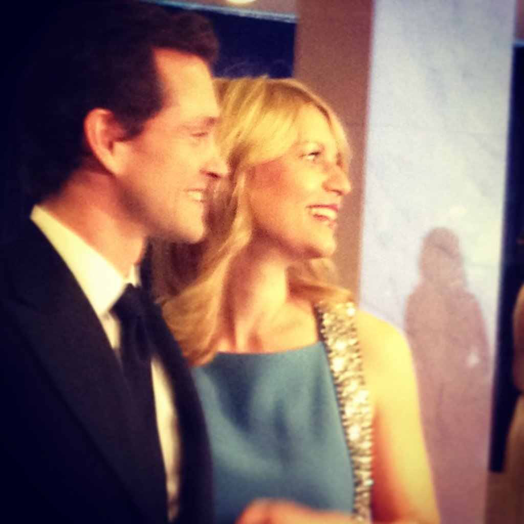 Claire Danes and husband Hugh Dancy kept close on the White House Correspondents' Dinner red carpet.