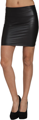 Matte Latex Mini Skirt