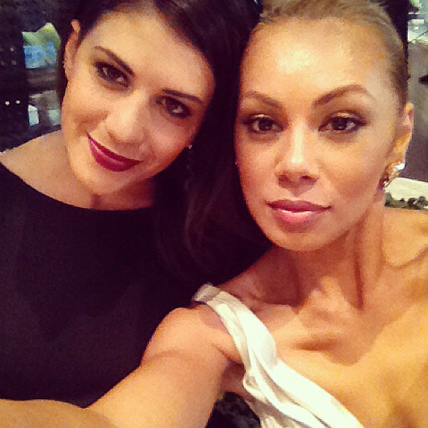 Stephanie Rice and Prinnie Stevens reunited at the Logies in April. Source: Instagram user msprinnie